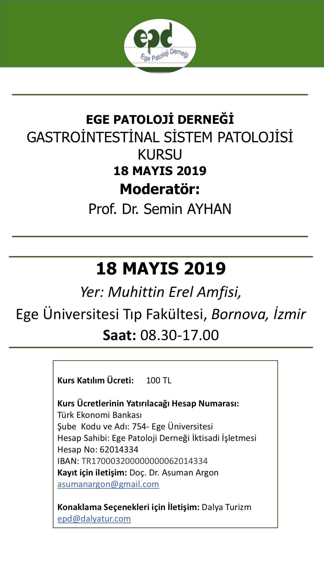 Gastrointestinal Sistem Kursu 18  MAYIS 2019 duyuru3