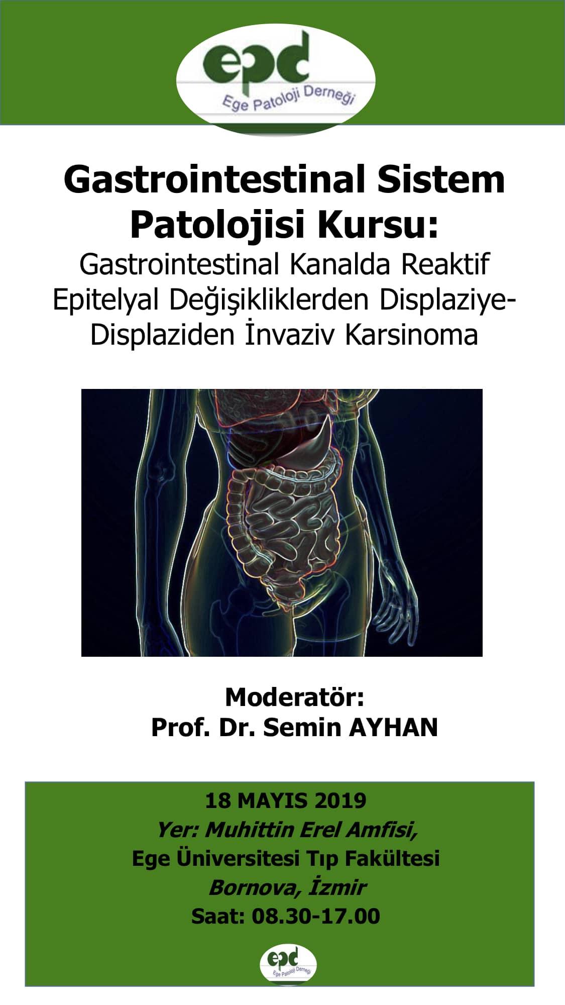 18 Mayıs 2019 - Gastrointestinal Sistem Patolojisi Kursu