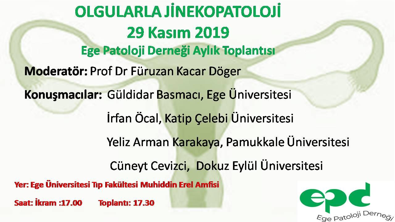 29 Kasım 2019 - Olgularla Jinekopatoloji