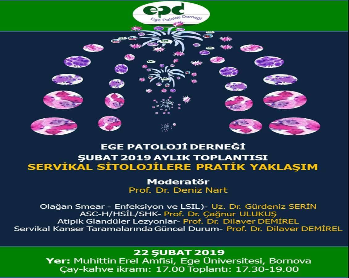 22 Şubat 2019 - Şubat Ayı Toplantısı: Servikal Sitolojilere Pratik Yaklaşım